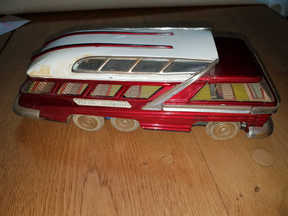 bus greyhound tin toy pekin shanghai en tôle