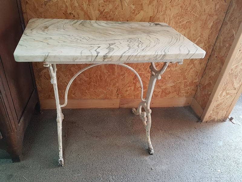 table de bistrot pied fonte